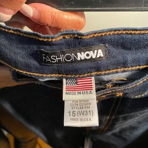 Fashion Nova skinny jeans -kylie high waisted jean